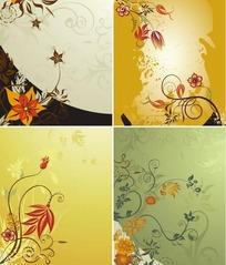 漂亮花朵底纹背景素材