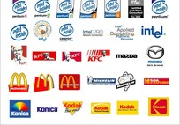 外国电脑和快餐美食公司标志集合