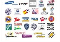 外国电子科技产品公司和足球标志集合