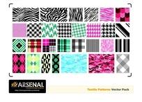 斑馬紋和格子布紋背景矢量素材
