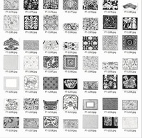 图案合辑—重复图案和孔雀翎以及花朵