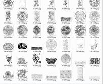 精美装饰图案和植物以及风筝拓印图