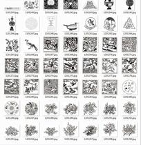 线描图合辑—鸟类和古代吉祥物品