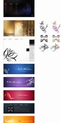 矢量花紋 時尚優雅的精致花紋集合