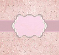 粉色背景上的彩色圆点和矩形条以及粉色边框