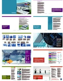 宣传册设计—包含建筑和行走的人的宣传册