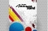 七彩圆球和彩虹的背景展板