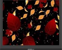 飞出的红色树叶