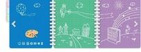 手绘城市建筑风筝太阳笔记本封面