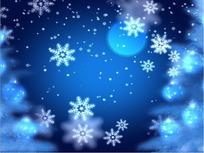月圆夜飘下的白色雪花