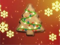 转动的圣诞树和六角雪花