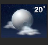 天气预报月亮ui图标