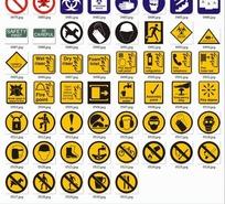 禁止通行等各类安全警示标志