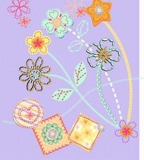 美丽花朵和信笺