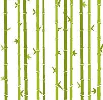 卡通绿色竹子和绿叶底纹