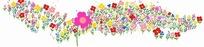 插画—五彩缤纷的花朵psd分层素材