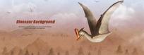 恐龙绘画----挥舞翅膀的大嘴恐龙