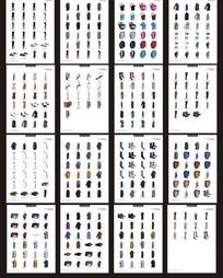 衣服及其各种配饰3d效果图