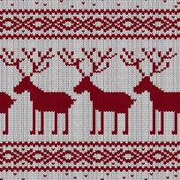 驯鹿毛衣编织纹理印花