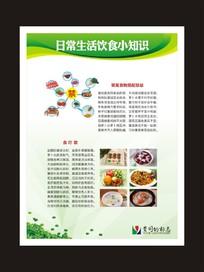 生活饮食知识宣传展板