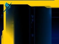 卫星科技蓝色视频背景