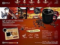 咖啡网站模板