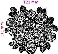 黑白玫瑰花图片