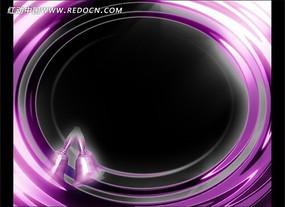 流光溢彩的紫色圆圈动感视频