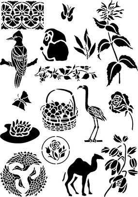 精美日本动植物底图素材