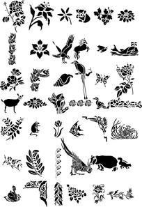日本精美动植物底图