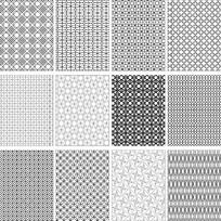 各种黑白底纹素材