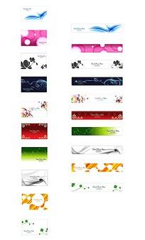 韩国花纹卡片花纹