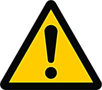 注意安全三角警示标识