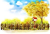 篱笆鲜花和邮箱