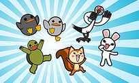 可爱卡通小动物们
