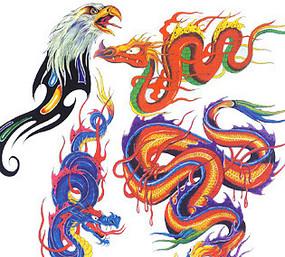 龍紋印花圖案