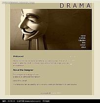 面具图案戏剧英文网站源码