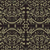 棕色对称纹样素材