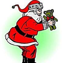 矢量圣诞老人手绘素材