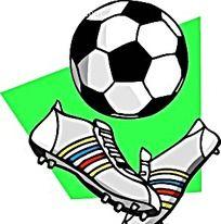 球鞋足球手绘画