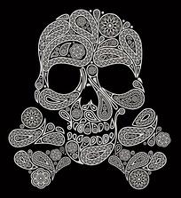 几何花纹骷髅头