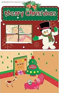 圣诞室内一角背景