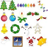 圣诞手绘立体图形图标
