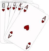 5张矢量扑克牌素材