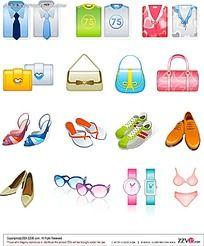 男士服装女士包包鞋子手表眼镜内页手绘图形