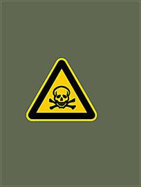 窒息警示标志