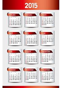 标签元素2015年日历