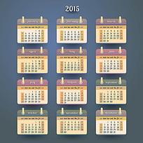 卡圈背景2015年日历