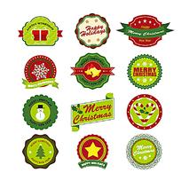 圣诞节元素图形图标