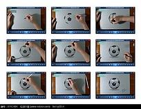 手绘立体足球视频